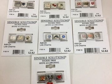Buy Now: 1000 pcs-- 3 pc Italian Link Charms--  $2820.00 value -- $69.99