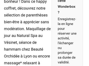 Vente: Coffret cadeau Wonderbox Bien-être (25€)