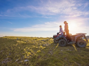Offering with online payment: Midnight Sun, Atv Ride During The Golden Hour
