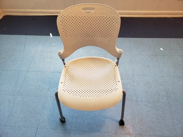 Selling Products: Plastic Chair with Rollers (White)