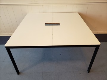 Selling Products: Square table with Center Cutout (White and Black)
