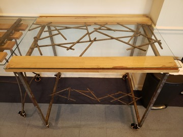 Selling Products: DIRTT Table 02 (Glass, Wood and Metal)
