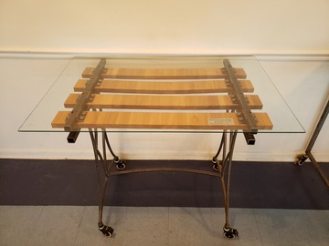 Selling Products: DIRTT Table 03 (Glass, Wood and Metal)