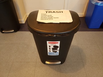 Selling Products: Rubbermaid Trash Can (Black)