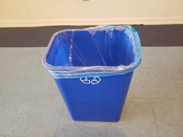 Selling Products: Plastic Recycling Bin (Blue) (Tall)