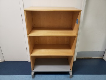Selling Products: Wooden 3 Shelf Bookcase with Rollers