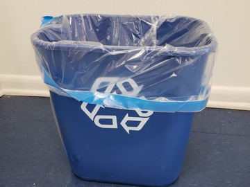 Selling Products: Plastic Recycling Bin (Blue) (Medium)