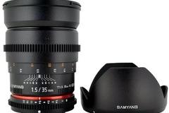 Vermieten: EF 35mm T1.5 Cine