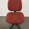 Selling Products: Metal Chair (Burgundy cloth cover) with Rollers