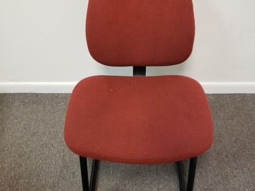 Produkte Verkaufen: Metal Chair (Burgundy cloth cover) with No Rollers