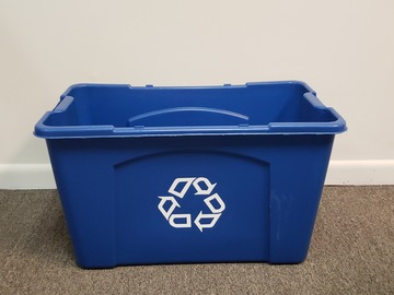 Selling Products: Plastic Recycling Bin (Blue)