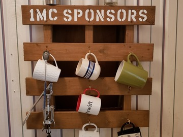 Selling Products: Wood Coffee Cup Organizer Rack