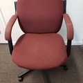 Selling Products: Metal Chair (Burgundy cloth cover) with Arms and Rollers