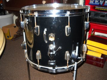 "Selling with online payment: 1949 LEEDY 12 X 15"" MARCHING SNARE, CONVERETED TO FLOOR TOM,"