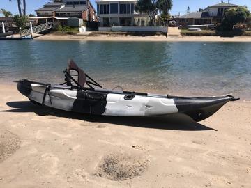 Weekly Rate: Black Camouflage Fishing Kayak