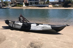 Monthly Rate: Black Camouflage Fishing Kayak