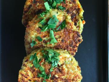 Partage: Galettes de quinoa et de légumes
