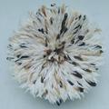 Vente au détail: Juju hat blanc moucheté noir et beige de 60 cm