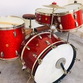 Not So Modern Drummer Article : 1952 WFL Porto-Pak Outfit No. 986P in Sparkling Red Pearl