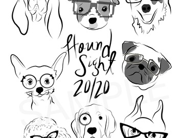 Selling with online payment: Hound Sight is 20/20: Small Group Digital Download (.jpg&.pdf)