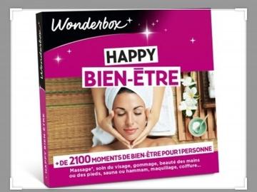 """Vente: Coffret Wonderbox """"Happy bien-être"""" (25€)"""