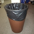 Selling Products: Plastic Circular Trash Can (Brown)