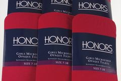 Buy Now: 390 Pairs Red Scarlet Honor Girls Microfiber Opaque Tights Medium
