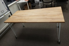 Selling Products: Wood Table with Rollers