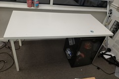 Selling Products: Wood Table with no Rollers (White)