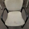 Selling Products: Plastic and Metal Cushioned Chair with Rollers (Beige and Black)