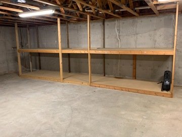 Renting out space: Large Shelves
