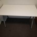 Selling Products: Desk with Metal Legs and no Rollers (White)