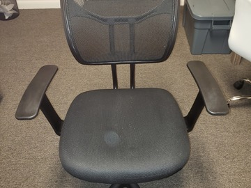 Selling Products: Office Chair Adjustable Height with Rollers (Black) (Medium)