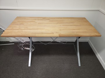 Selling Products: Wood Table with Metal Legs