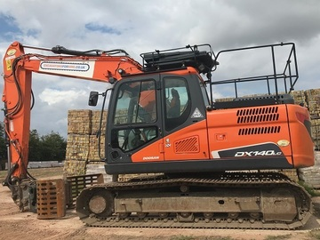 Weekly Equipment Rental: DOOSAN DX140LC-5