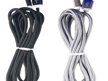 Liquidation Lot: Braided 10 ft Cable generic for iphone/samsung/type-c