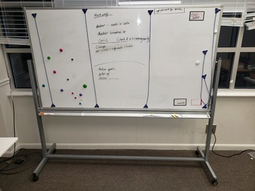 Selling Products: Whiteboard (Large) with Rollers