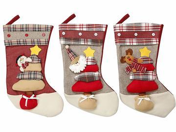 Buy Now: 3 Pcs Christmas Santa's Stockings Holder Set (18 inch)