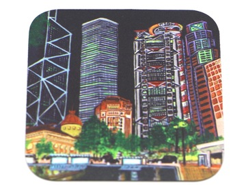 : Hong Kong Fridge Magnet Stickers printed