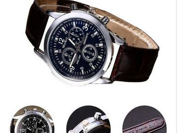 Buy Now: Luxury Leather Watches Mens  x100