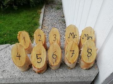 Ilmoitus: Mr & Mrs + pöytänumerot
