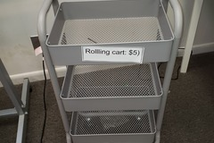 Selling Products: Metal Cart with Rollers