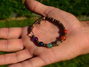 Sale retail: Bracelet élastique 7 chakras | pierres semi-précieuses