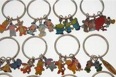 Buy Now: 360 --DISNEY KEYCHAINS--  3 CHARMS ON EACH-- $ .40 pcs