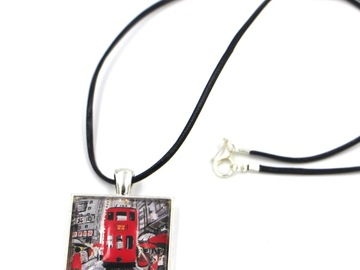 : Necklace Pendant RED