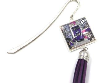 : Jewelry Bookmark Hong Kong Tram - PURPLE