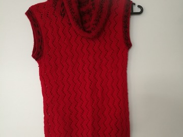 Myydään: woolen knitted vest, women, S, never worn