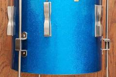 """Selling with online payment: '60s Ludwig 14x14"""" Club Date Floor Tom Blue Sparkle"""