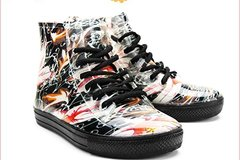 Buy Now: 24 Pairs Women's Ankle Flat Floral Jelly Rain Boots Sneaker