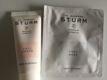 Venta:  DR. BARBARA STURM Face Cream 20 ml + Face mask 10 ml